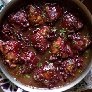 Braised Chicken with Sour Cherries