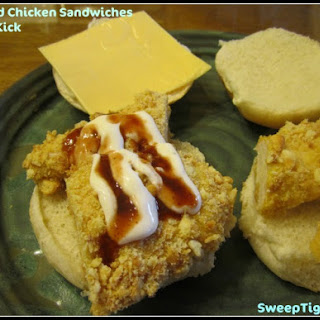 Breaded Chicken Sandwiches with a Kick.