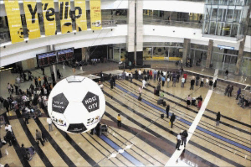 FIFA delegation presented a comprehensive transportation plan for the 2010 FIFA Wolrd Cup at OR Tambo International. Pic: MOHAU MOFOKENG. 20/04/2010. © sowetan