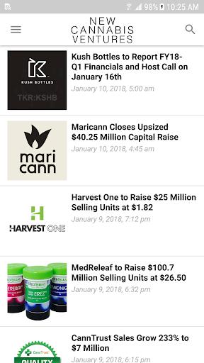 New Cannabis Ventures screenshot 2