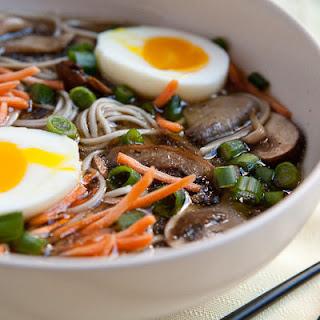 Mushroom Soba Noodle Bowls.