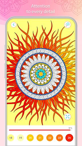 التلوين بالأرقام u2013 Mandala Book Screenshot 3