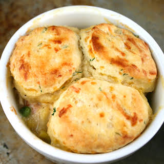Chicken Pot Pie with Cheddar Dill Biscuits.