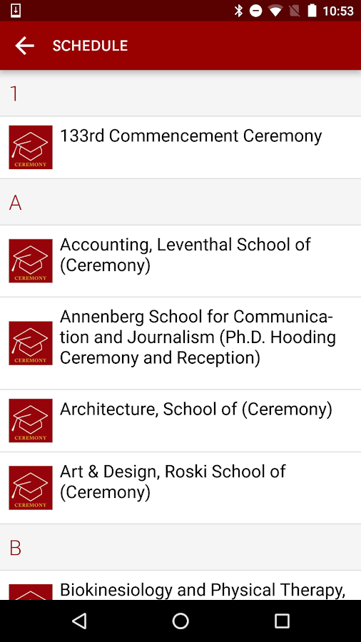 USC Grad- screenshot