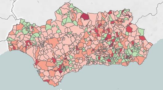 Alerta roja: solo 9 de los pueblos andaluces con más incidencia están en Almería