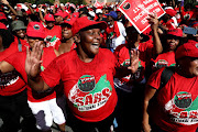 Sars employees affiliated to Nehawu on Thursday embarked on strike at taxman's Alberton branch.
