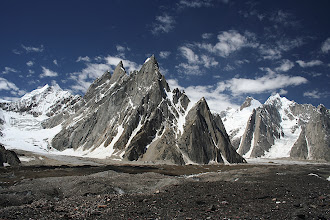 Photo: Unnamed peaks on the south side of the Baltoro close to Concordia.