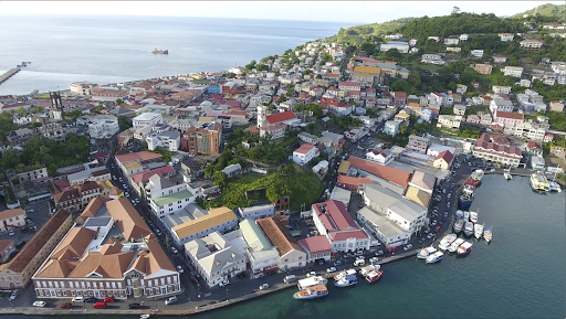 grenada-drone-still3.png - Drone footage of the marina at St. George's, capital of Grenada.