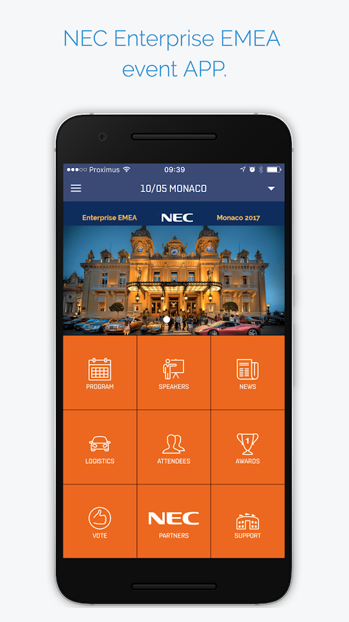 NEC Smart Enterprise- screenshot