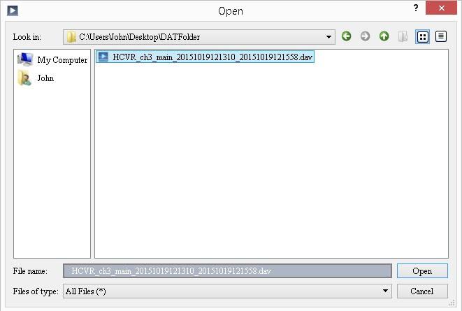 Chuyển định dạng file DAV sang AVI