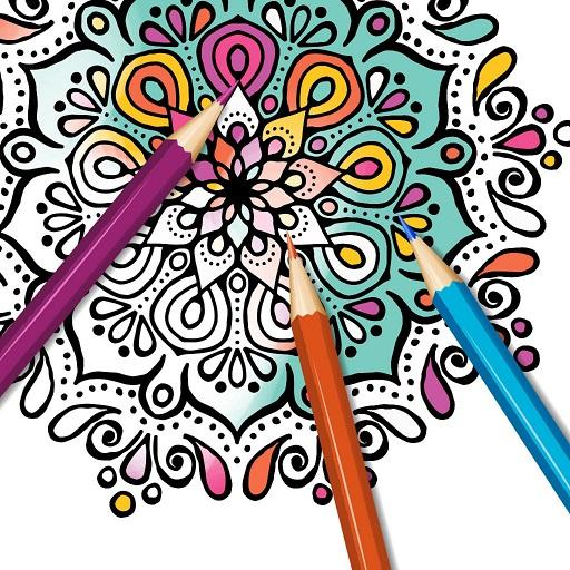 Mandala Coloring Book Pages For Adults 2018 Icon