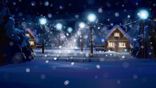 Christmas night.Live wallpaper