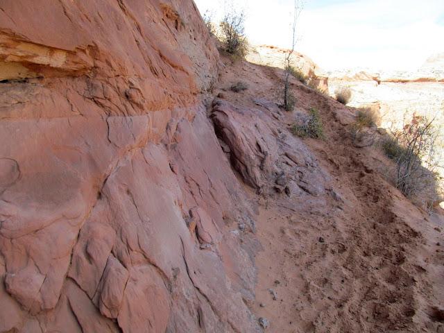 Blasted sandstone