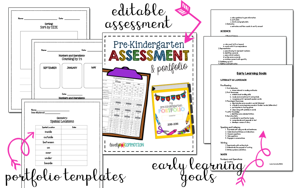 pre-kindergarten assessment and portfolio bootcamp
