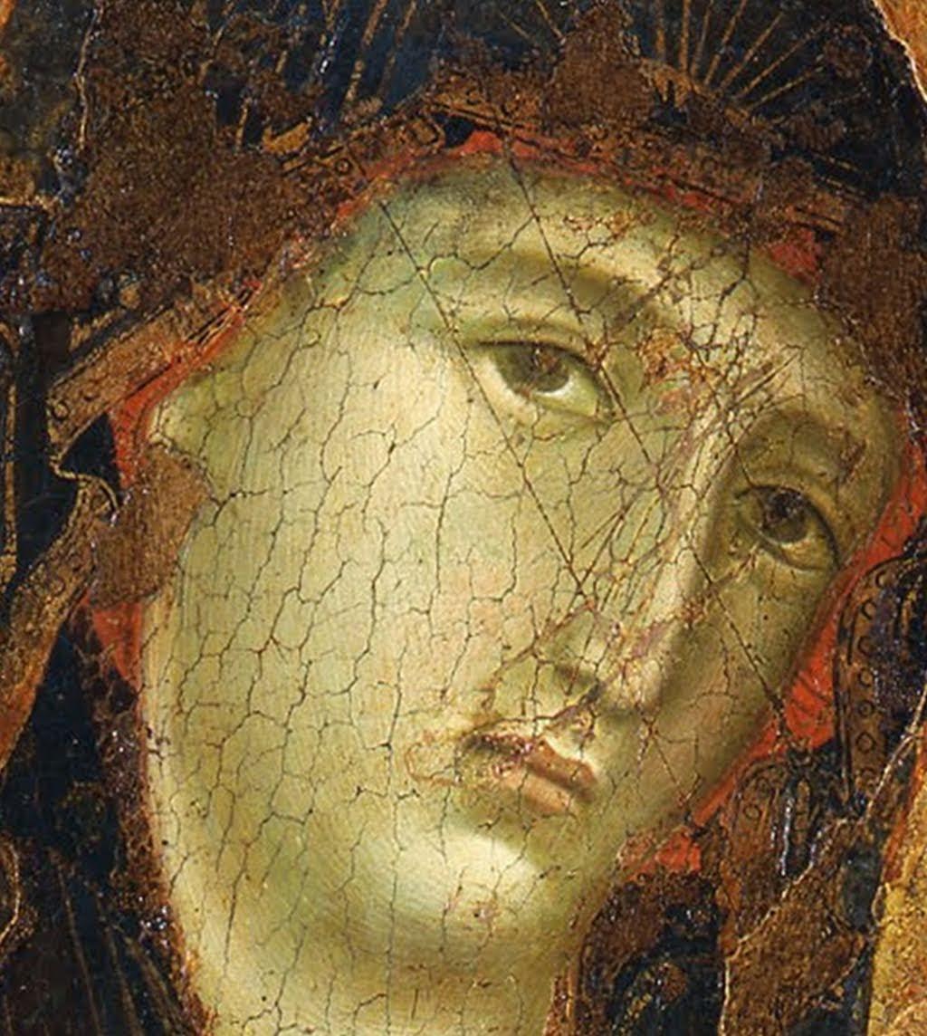 Duccio di Buoninsegna, Madonna col Bambino di Buonconvento, 1290-1295, tempera e oro su tavola, dalla Chiesa dei Santi Pietro e Paolo di Buonconvento, Buonconvento, Museo di arte sacra della Val d'Arbia