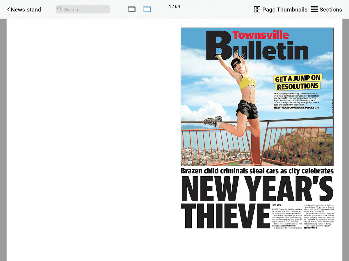 Townsville Bulletin- screenshot