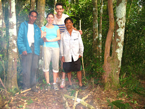 Photo: The guide andlocal guide take picture with tourist-3 Days Nam Ha Jungle Camp in LuangNamtha, Laos