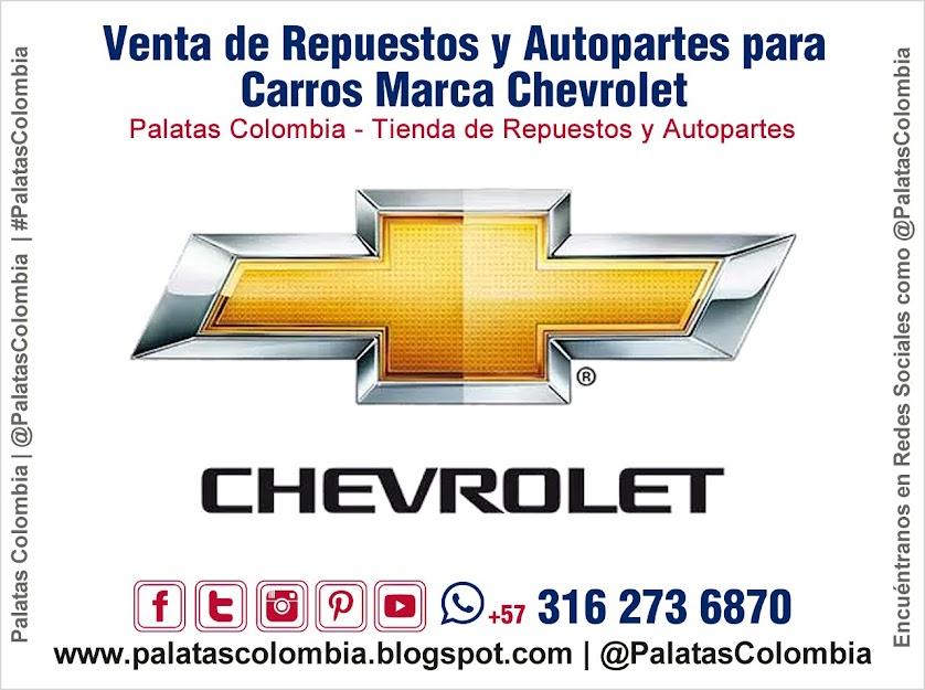 Venta de Repuestos y Autopartes para Carros Marca Chevrolet en Bucaramanga | Palatas Colombia Repuestos y Autopartes @PalatasColombia WhatsApp +57 3162736870