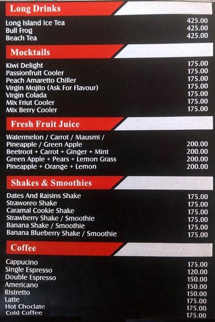 Cafe Hawkers menu 1