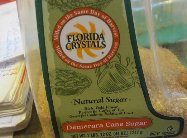 Then add the turbinado sugar,nutmeg & cinnamon.