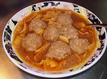 Abondigas Soup (Mexican Meatball Soup)