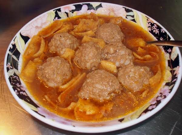 Abondigas Soup (mexican Meatball Soup)