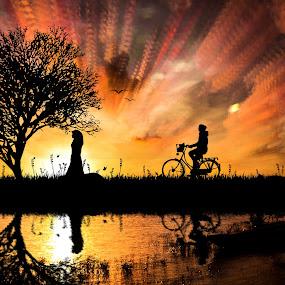 Vanilla Twilight #2 by Adhang Muntaha - Landscapes Sunsets & Sunrises