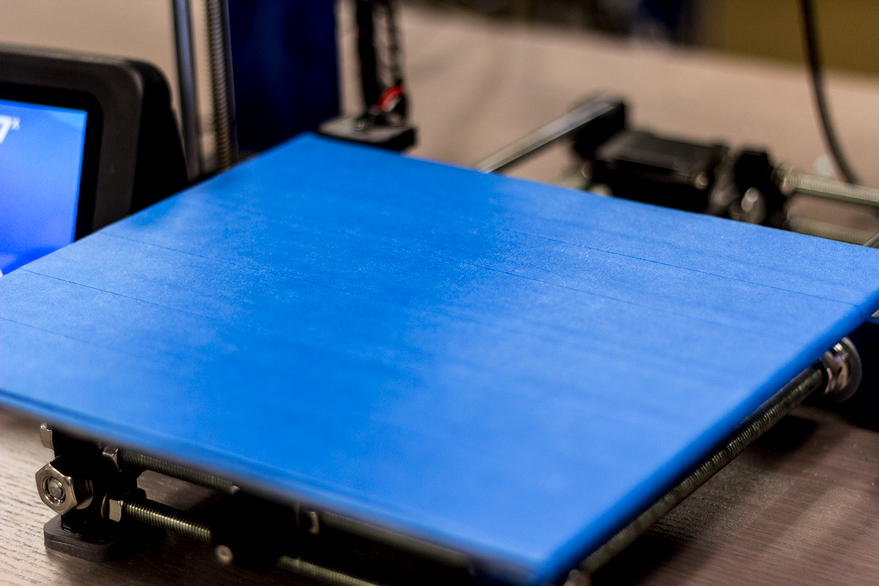 Blue Painter's Tape on the Pulse 3D Printer