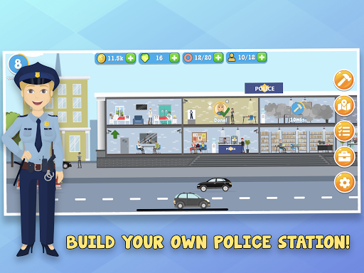 Code Triche Police Inc: Simulation de commissariat de Tycoon  APK MOD (Astuce) screenshots 5