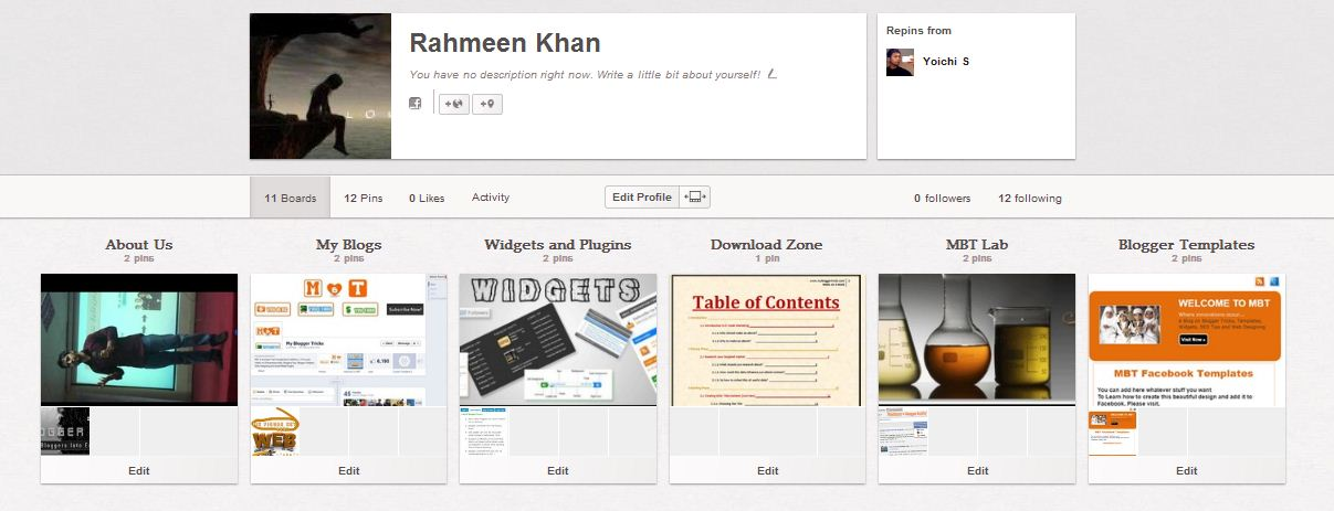 creating boards in pinterest