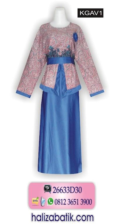 batik moderen, baju gamis batik, combinasi batik masa kini