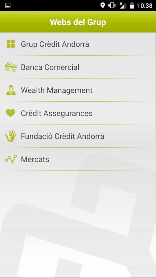 Crèdit Andorrà- screenshot