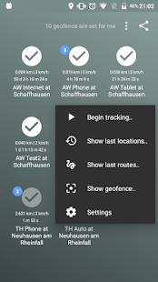 Follow - realtime location app using GPS / Network Screenshot