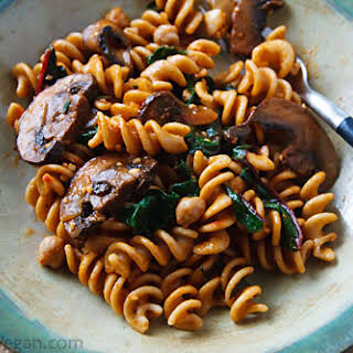 Pasta with Chard and Chickpeas.