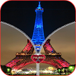 Paris Zipper Screen Lock HD Icon