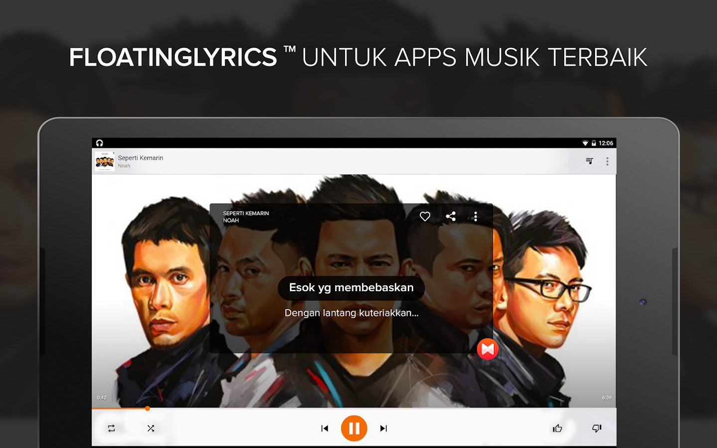 Musixmatch Lyrics Music Player - screenshot