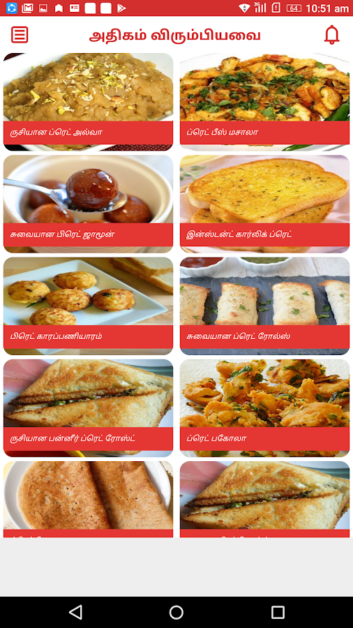Bread Recipes in Tamil- screenshot