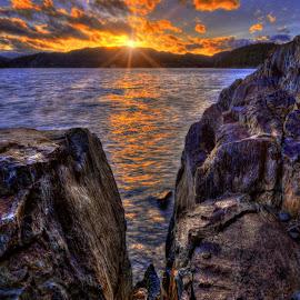 Rock n Hard Place by DE Grabenstein - Landscapes Waterscapes (  )