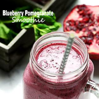 Blueberry Pomegranate Smoothie.