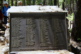 Photo: Monument plaque with names of all cavalry troops involved in battle.