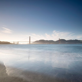 Golden Gate Winds by Trey Amick - Landscapes Waterscapes ( feburary, 10-24mm, ca, california, chinatown, street, goldengatebridge, at, xt-1, fujixt1, sanfran, hiking, feb, trail, fuji, goldengate, long exposure, bridge, den, san francisco, china town )