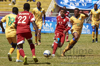 Photo: Dominique Savio NSHUTI (11) [Rwanda vs Sudan, CECAFA 2015, Semi final, 3 Dec 2015 in Addis Ababa, Ethiopia.  Photo © Darren McKinstry 2015, www.XtraTimeSports.net]