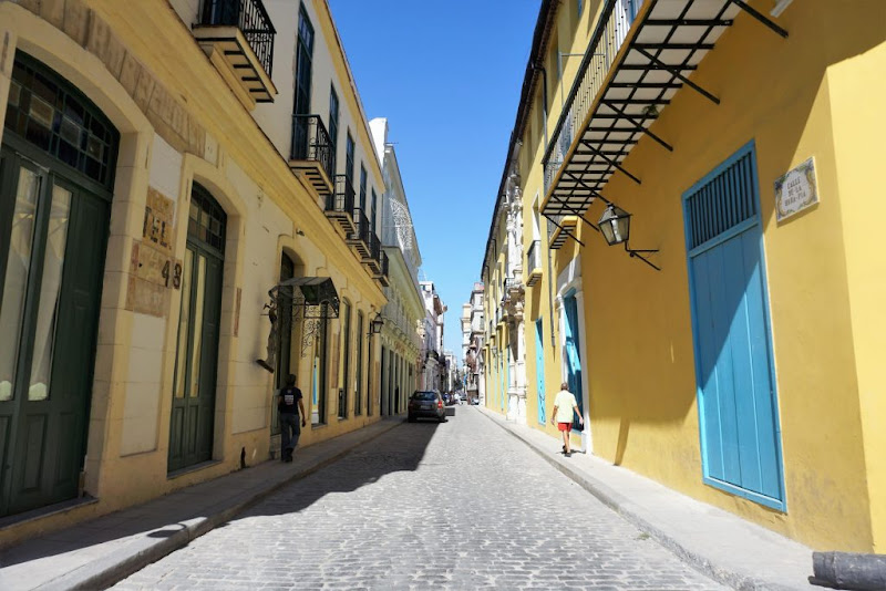 A typical street in downtown Havana, Cuba.