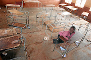 Matome Mokauke, 10,   plays in a classroom at the    dilapidated Ratjeke Primary School in Bolobedu, Limpopo. /ANTONIO MUCHAVE