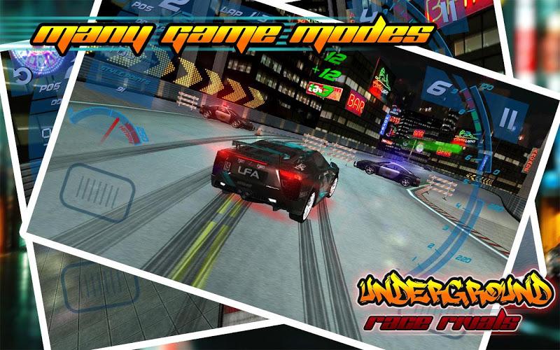 Скриншот Underground Race Rivals