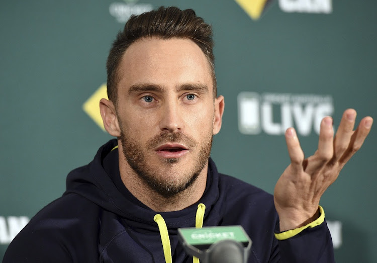South African cricket captain Faf du Plessis. Picture: EPA/DAVE HUNT