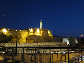 Photo: Ottoman walls lit up at night