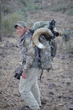 """Photo: Darr Colburn with Ron's """"LOGO"""" ram in the backpack"""