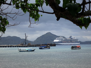 Photo: Celebrity Millennium at anchor just outside Komodo