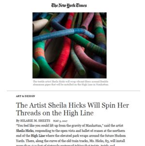 Sheila Hicks The High Line The New York Times